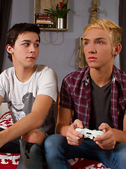 Twink nerd Matthew Keading and sultry blonde boy Dylan Hall